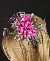 PURPLE PARADISE Prom Hairpiece in Manchester, NH | CRYSTAL ORCHID FLORIST