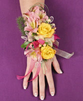 PASTEL POTPOURRI Prom Corsage in Roanoke, VA | BASKETS & BOUQUETS FLORIST