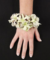 WHITE WRISTLET Prom Corsage in Northfield, OH | GRAHAM'S FLORAL SHOPPE
