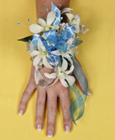 BLUE HEAVEN Prom Corsage in Bath, NY | VAN SCOTER FLORISTS