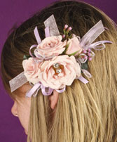 BLUSH PINK Prom Hairpiece in West Hills, CA | RAMBLING ROSE FLORIST