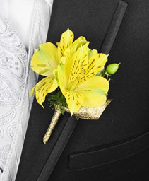 SPRING SUNSHINE Prom Boutonniere