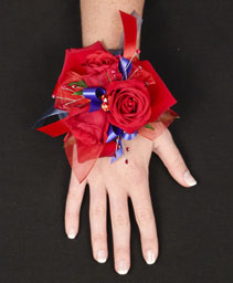 RED I LOVE YOU ROSES Corsage