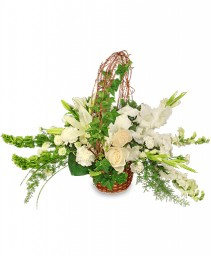 SERENITY Flower Basket in Red Deer, AB | SOMETHING COUNTRY FLOWERS & GIFTS