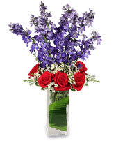 AMERICAN SPIRIT Arrangement in Roseville, CA | A FLOWER BUCKET FLORIST