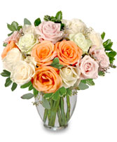 ALABASTER ROSES Arrangement in Boonton, NJ | TALK OF THE TOWN FLORIST