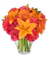FEELING HOT! HOT! HOT! Bouquet in Brownsburg, IN | BROWNSBURG FLOWER SHOP