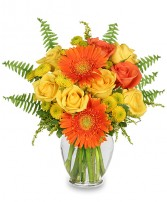 CITRUS ZEST Bouquet in Houston, TX | AJ'S URBAN PETALS