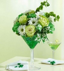 1800 Flowers Green Dublin Cocktail Tipsy Arrangement