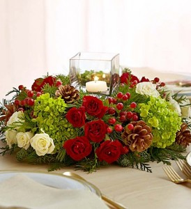 1800Flowers Very Merry Modern Centerpiece Holiday Centerpiece in Sutton, MA | POSIES 'N PRESENTS