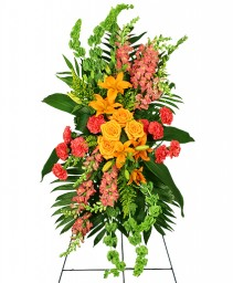 GLORIOUS LIFE Funeral Flowers in Greenville, OH | HELEN'S FLOWERS & GIFTS