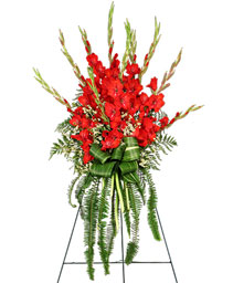 FOREVER FLAME Funeral Flowers in Mcleansboro, IL | ADAMS & COTTAGE FLORIST