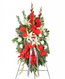 REVERENT RED Funeral Flowers in Bowerston, OH | LADY OF THE LAKE FLORAL & GIFTS
