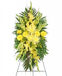 SOULFUL SUN Funeral Spray in Tulsa, OK | THE WILD ORCHID FLORIST