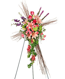 COMPASSIONATE CROSS Funeral Flowers in Redlands, CA | REDLAND'S BOUQUET FLORISTS & MORE