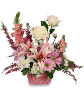 GARDEN SO SWEET Flower Basket in East Haven, CT | CREATIVE FLOWERS, FRUIT & GIFT BASKETS