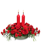 RICHLY CHRISTMAS Holiday Arrangement in Michigan City, IN | WRIGHT'S FLOWERS AND GIFTS INC.