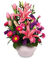 DELICATE EMOTIONS Arrangement in Brownsburg, IN | BROWNSBURG FLOWER SHOP 