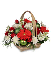 BE JOLLY BASKET Holiday Flowers in Boonton, NJ | TALK OF THE TOWN FLORIST