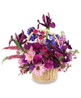 GARDEN OF GRATITUDE Basket of Flowers in Santa Cruz, CA | BOULDER CREEK FLOWERS & DESIGN CO.
