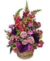 HOME SWEET HOME Flower Basket in Advance, NC | ADVANCE FLORIST & GIFT BASKET