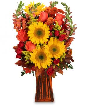 All Hail to Fall! Flower Arrangement in Chatham, IL | TRENDSETTERS DESIGN, INC