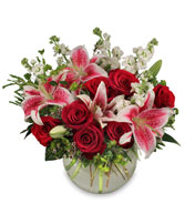 STARTS IN THE HEART Flower Arrangement in Manchester, NH | CRYSTAL ORCHID FLORIST