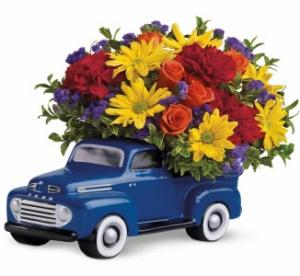 48 Ford Pickup Bouquet A Teleflora Keepsake in Hesperia, CA | ACACIA'S COUNTRY FLORIST