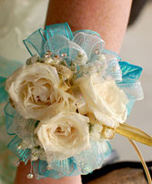 White Roses Prom Corsage Prom Flowers in Hillsboro, OR | FLOWERS BY BURKHARDT'S