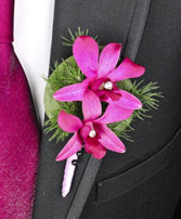 PURPLE PARADISE Prom Boutonniere in Beaufort, SC | ARTISTIC FLOWER SHOP