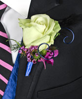 A NIGHT TO REMEMBER Prom Boutonniere in Great Falls, MT | PURPLE CAT CREATIONS