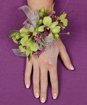 GLAMOROUS GREEN Prom Corsage in Bend, OR | ANA'S ROSE N THORN