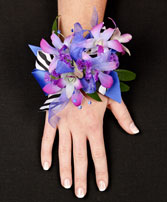 POSH PURPLE ORCHIDS Prom Corsage in Bath, NY | VAN SCOTER FLORISTS