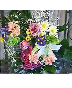 COLOURFUL BOUQUET Flowers Gift wrapped