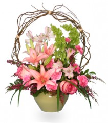 TRELLIS FLOWER GARDEN Sympathy Arrangement in Jacksonville, NC | THE FLOWER CONNECTION