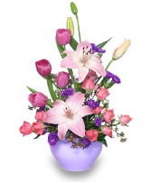 LAVENDER LOVE Bouquet in Jasper, IN | WILSON FLOWERS, INC