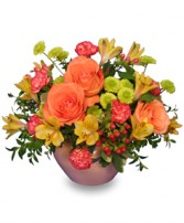 BRIGHT FLOR-ESSENCE Arrangement in Farmingdale, NY | MERCER FLORIST & GREENHOUSE INC.