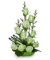 JADE GREEN ROSES Arrangement in Mississauga, ON | FLORAL GLOW - CDNB DIVINE GLOW INC BY CORA BRYCE