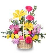 EGG-CITING EASTER BASKET of Fresh Flowers