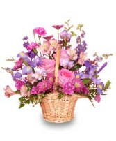 MAUVE-LOUS BOUQUET Flower Basket in Caldwell, ID | BAYBERRIES FLORAL