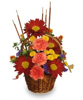 SIGNS OF FALL Basket of Flowers
