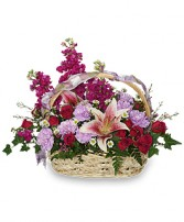 HAPPY HUGS BASKET Flower Arrangement in Prospect, CT | MARGOT'S FLOWERS & GIFTS