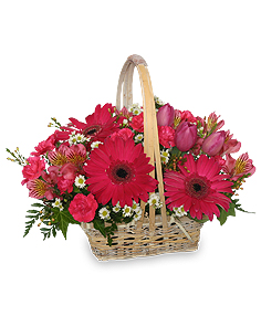 Best Wishes Basket of Fresh Flowers in Coldspring, TX | Coldspring Florist