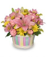 SALTWATER TAFFY Basket in Little Falls, NJ | PJ'S TOWNE FLORIST INC