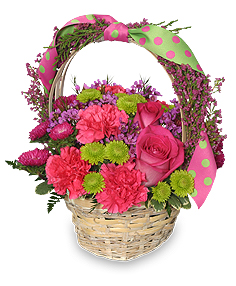 Spring Fever Basket Arrangement