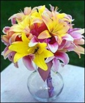 Lots of Lovely Lilies Bridesmaid Bouquet