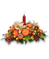 FALL FIESTA Centerpiece in Brownsburg, IN | BROWNSBURG FLOWER SHOP