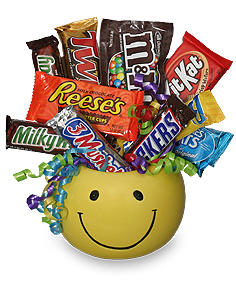 CANDY BOUQUET Gift Basket in Oklahoma City, OK | FLORAL AND HARDY