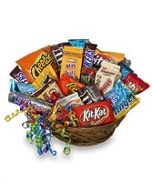 JUNK FOOD BASKET Gift Basket in Raymore, MO | COUNTRY VIEW FLORIST LLC