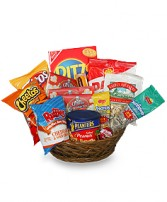 SALTY SNACKS BASKET Gift Basket in Minneapolis, MN | TOMMY CARVER'S GARDEN OF FLOWERS